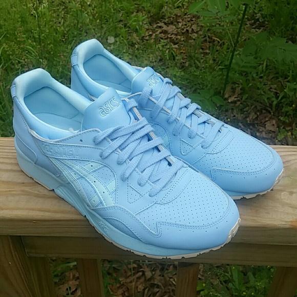 Asics Shoes   Baby Blue Cream   Poshmark